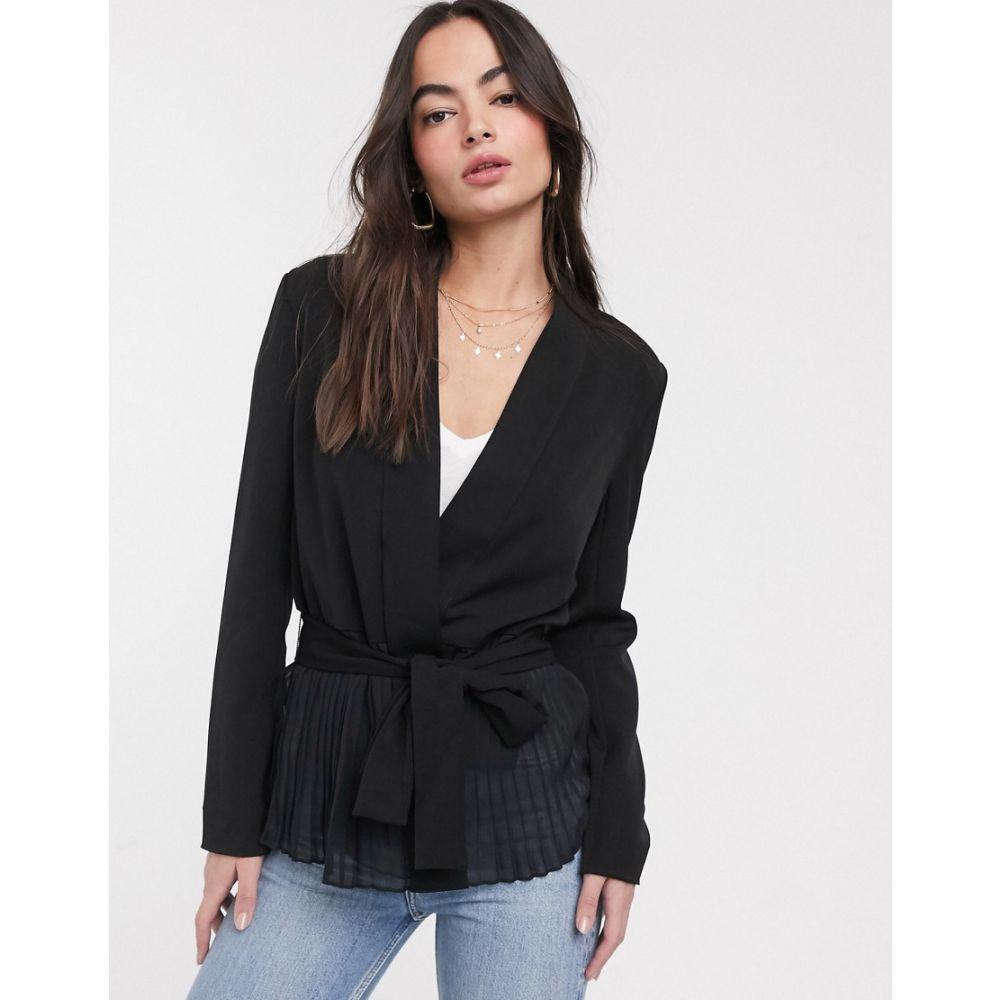 フレンチコネクション French Connection レディース ブラウス・シャツ トップス【angeline drape belted jacket】Black