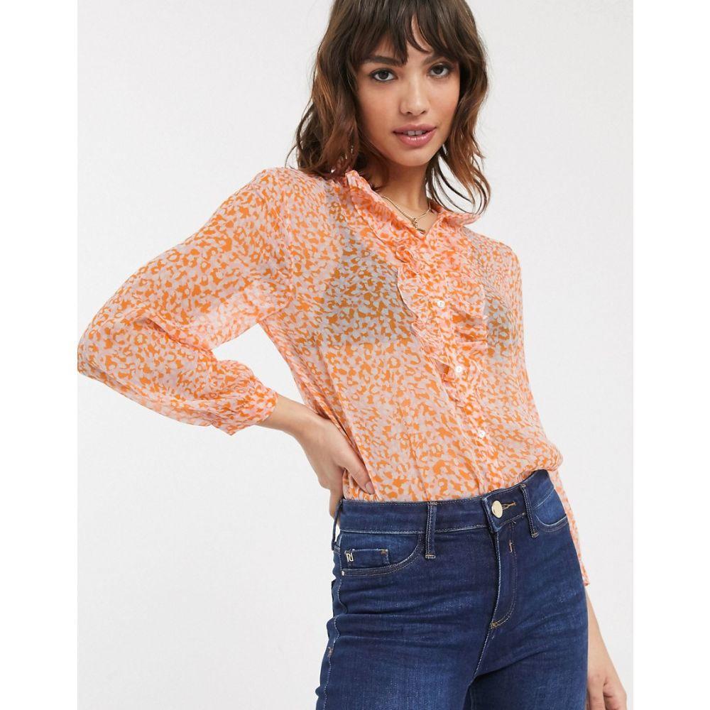 フレンチコネクション French Connection レディース ブラウス・シャツ トップス【ruffle neck ditsy floral print blouse】True blossom