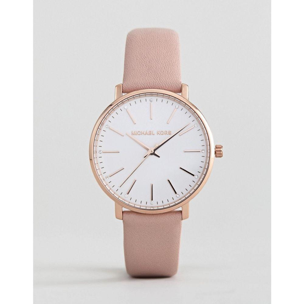 マイケル コース Michael Kors レディース 腕時計 【MK2741 Pyper Leather Watch In Pink 38mm】Pink