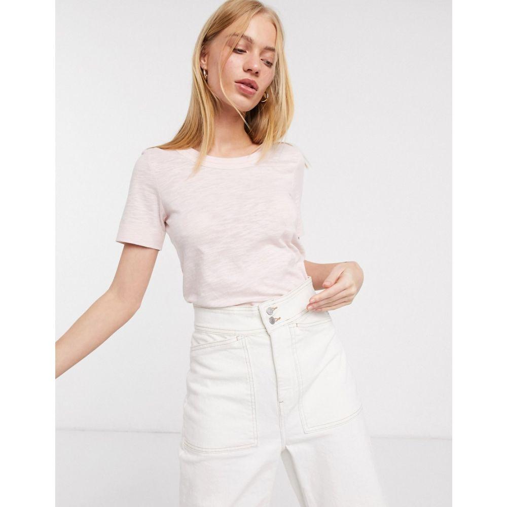 ホイッスルズ Whistles レディース Tシャツ トップス【Rosa double trim t-shirt】Rose
