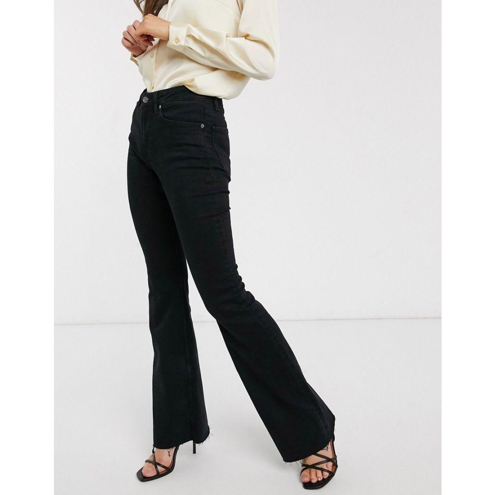 マンゴ Mango レディース ジーンズ・デニム ボトムス・パンツ【flare jeans in black】Black