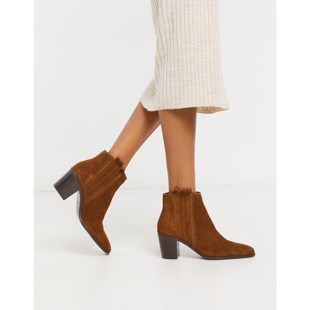 マンゴ Mango レディース ブーツ ショートブーツ シューズ・靴【suede ankle boots in tan】Tan