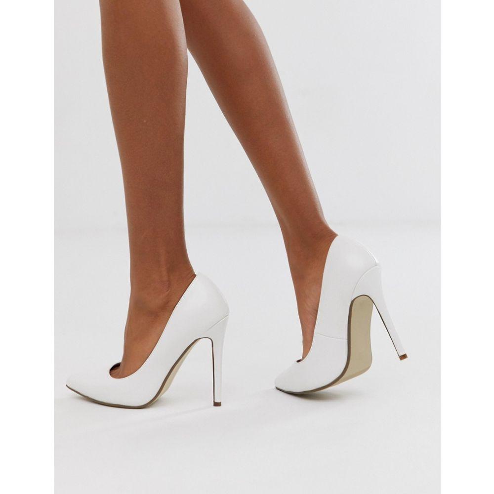ミスガイデッド Missguided レディース パンプス シューズ・靴【court shoe in white】White