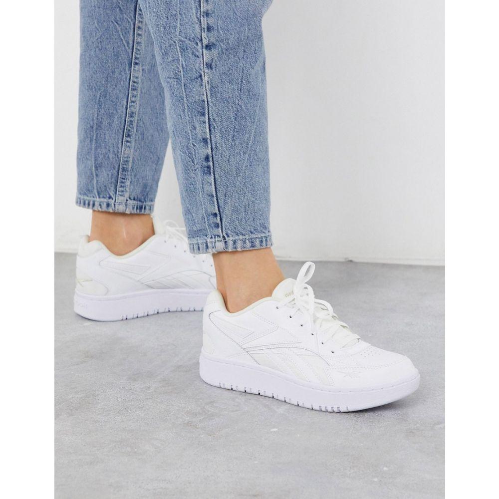 リーボック Reebok レディース スニーカー シューズ・靴【Court Double Mix trainers in white】White
