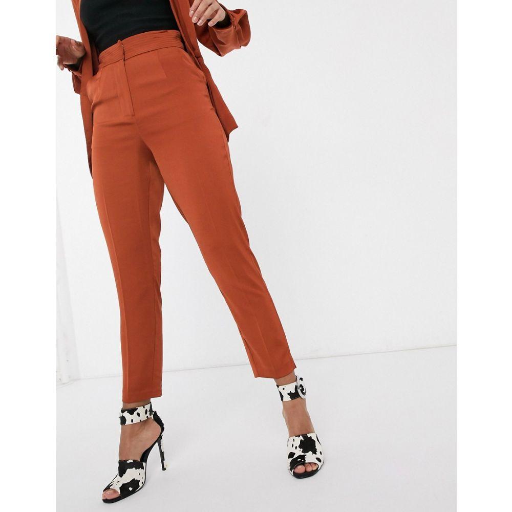 ラヴィッシュアリス Lavish Alice レディース ボトムス・パンツ 【tailored trouser in co-ord in brown】Brown