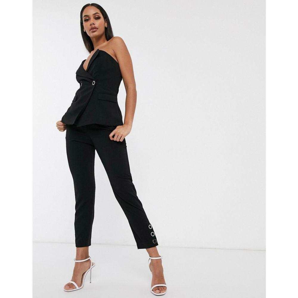 ラヴィッシュアリス Lavish Alice レディース ボトムス・パンツ 【button detail tailored trouser in black】Black