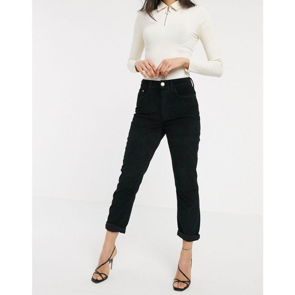 リバーアイランド River Island レディース ジーンズ・デニム ボトムス・パンツ【corded mom jeans in black】Black