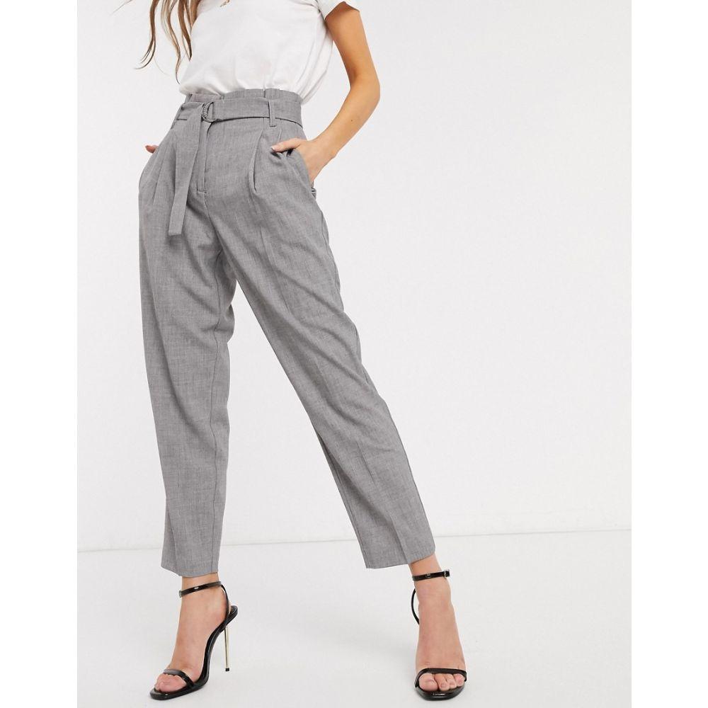 ワイ エー エス Y.A.S レディース ボトムス・パンツ 【tailored trousers with belted waist in grey】Dgm