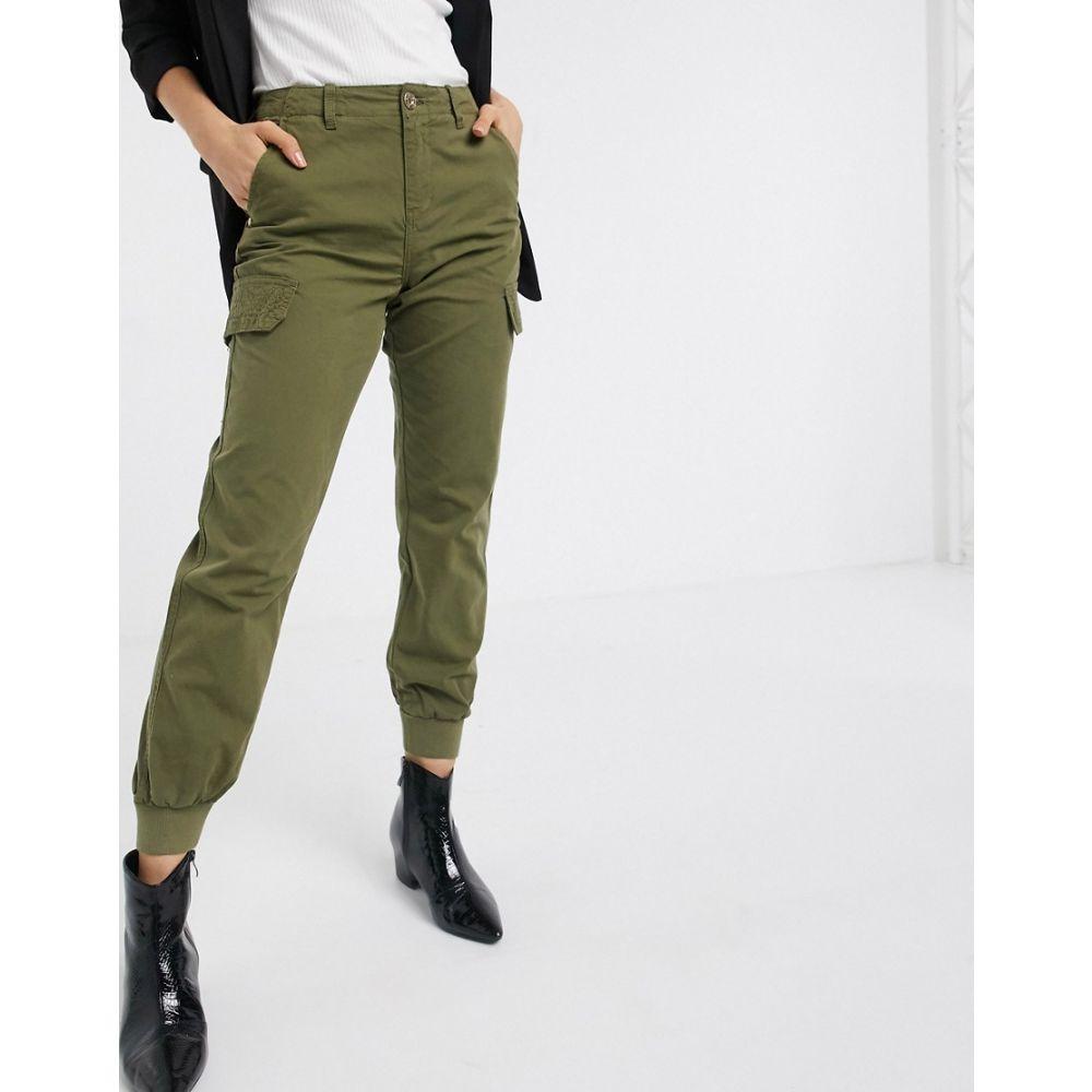 リバーアイランド River Island レディース ボトムス・パンツ 【tapered trouser in khaki】Green