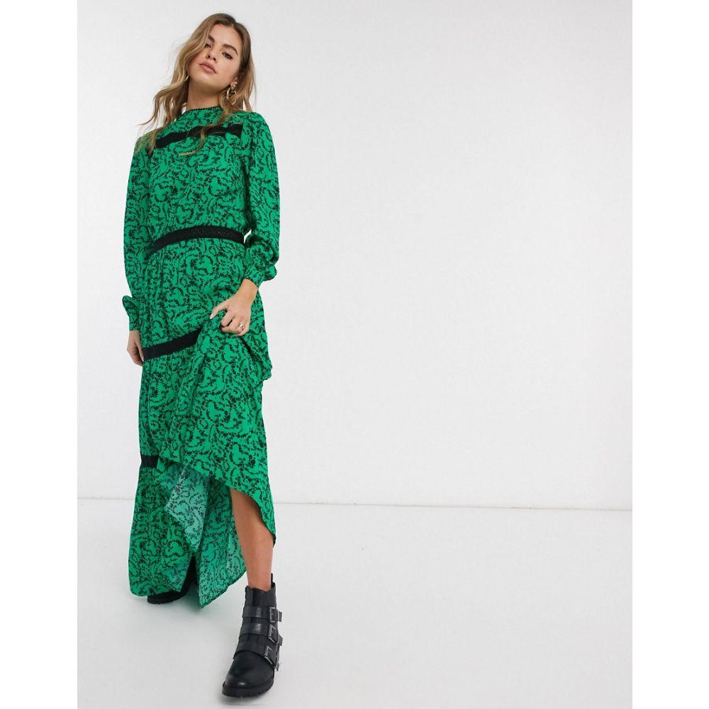 レズメ Resume レディース ワンピース ティアードドレス ワンピース・ドレス【Scarlett floral tiered maxi dress】Green
