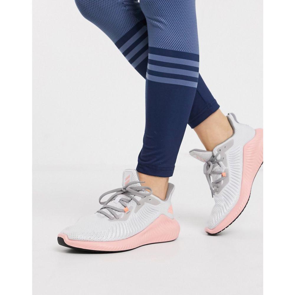 アディダス adidas performance レディース ランニング・ウォーキング シューズ・靴【adidas Running alphabounce 3 trainers in grey】Grey