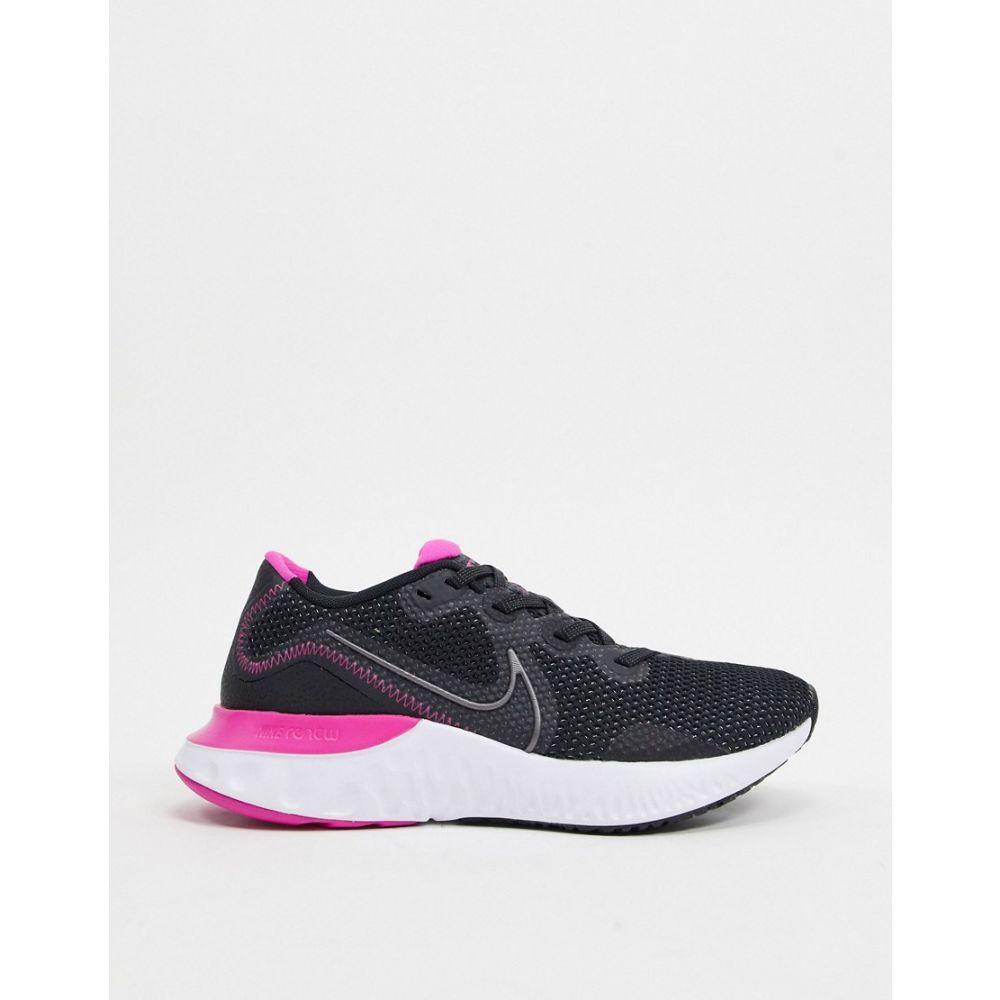 ナイキ Nike Running レディース ランニング・ウォーキング シューズ・靴【Nike Renew Run trainers in black】Black