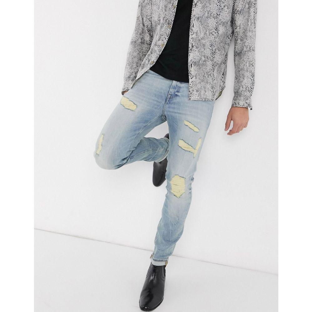 エイソス ASOS DESIGN メンズ ジーンズ・デニム ボトムス・パンツ【skinny jeans 'honestly worn' in vintage light wash with rips】Light wash vintage