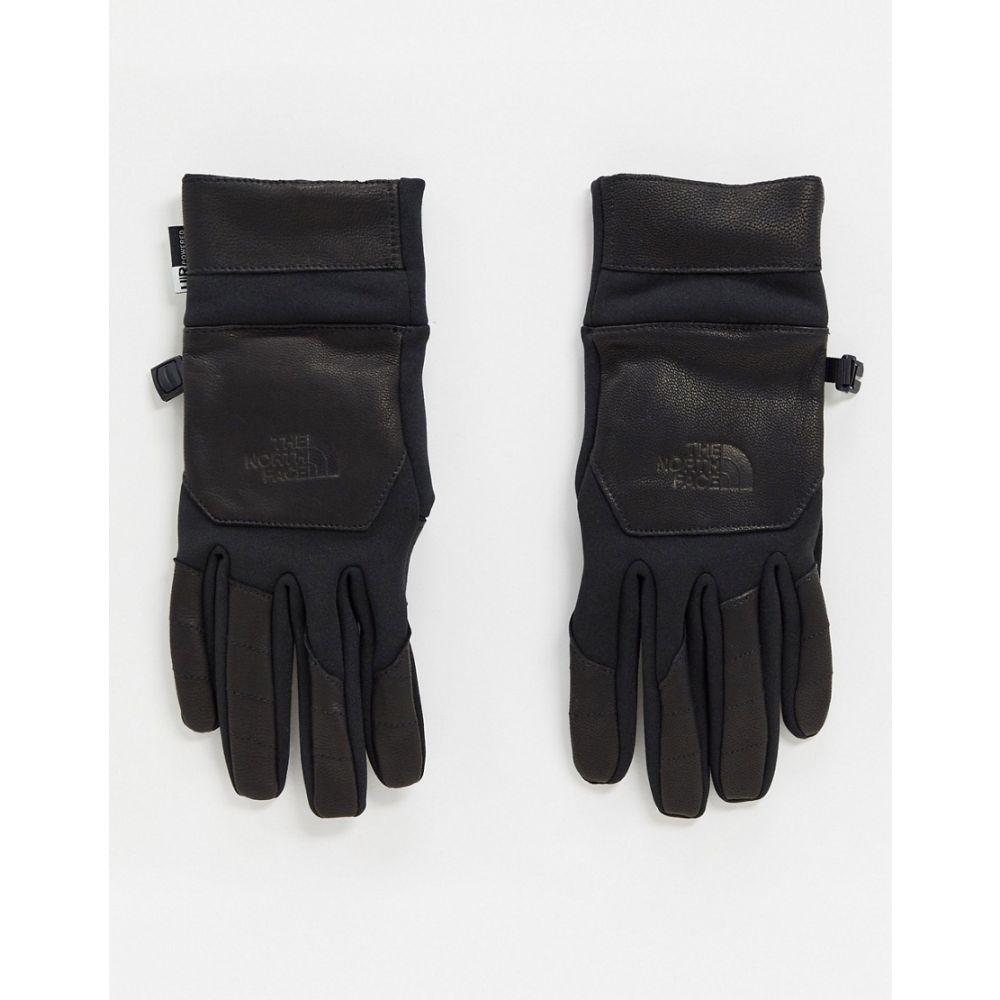 ザ ノースフェイス The North Face メンズ 手袋・グローブ 【Etip Leather gloves in black】Black