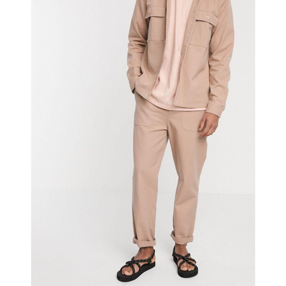 エイソス ASOS DESIGN メンズ ボトムス・パンツ 【co-ord relaxed carpenter trousers in pink】Pink