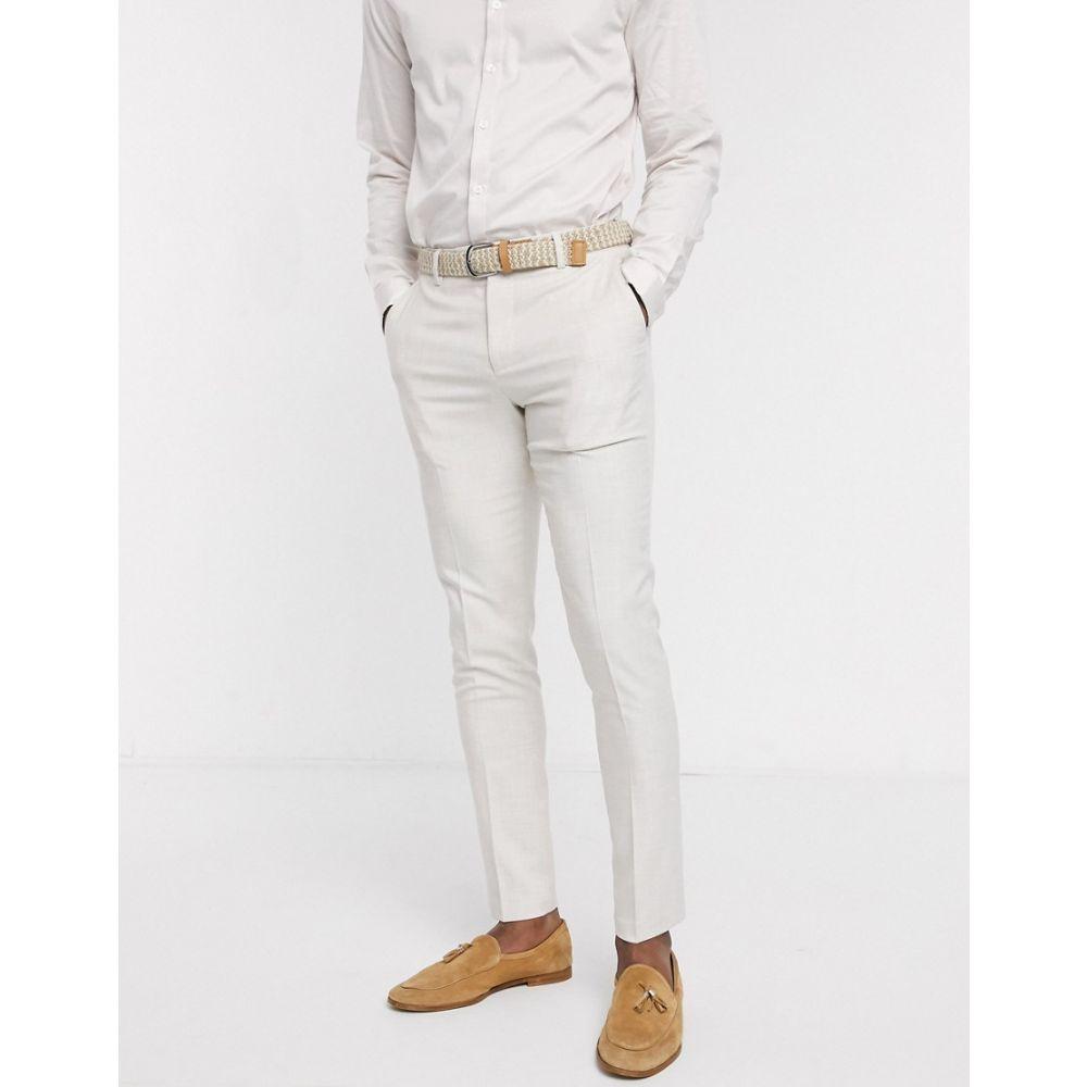 エイソス ASOS DESIGN メンズ スラックス ボトムス・パンツ【skinny trousers in ice grey】Ice grey