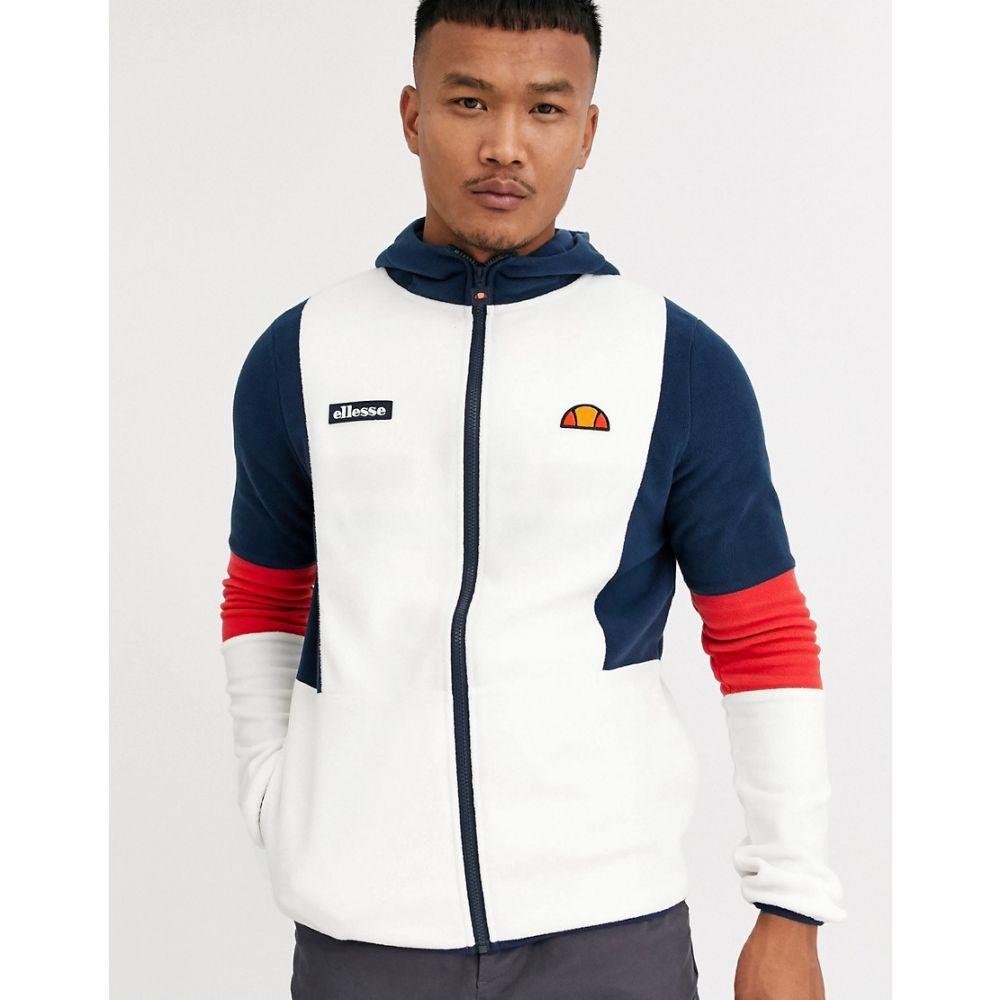 エレッセ ellesse メンズ フリース トップス【Sotto fleece jacket in off white】Off white