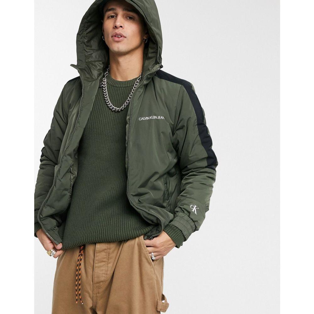カルバンクライン Calvin Klein Jeans メンズ ブルゾン アウター【padded jacket in khaki】Deep depths
