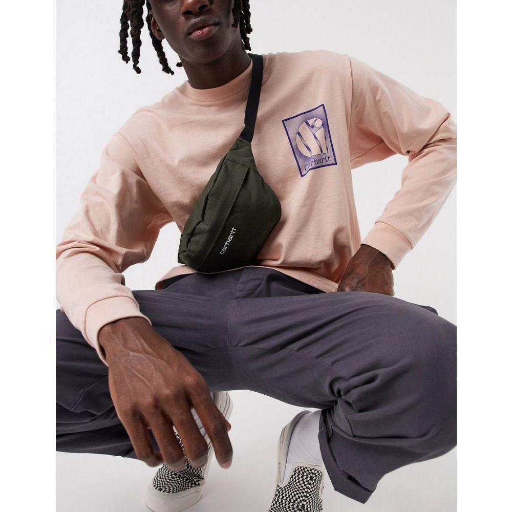 カーハート Carhartt WIP メンズ ボディバッグ・ウエストポーチ バッグ【Payton Cordura hip bag in khaki】Cypress/white