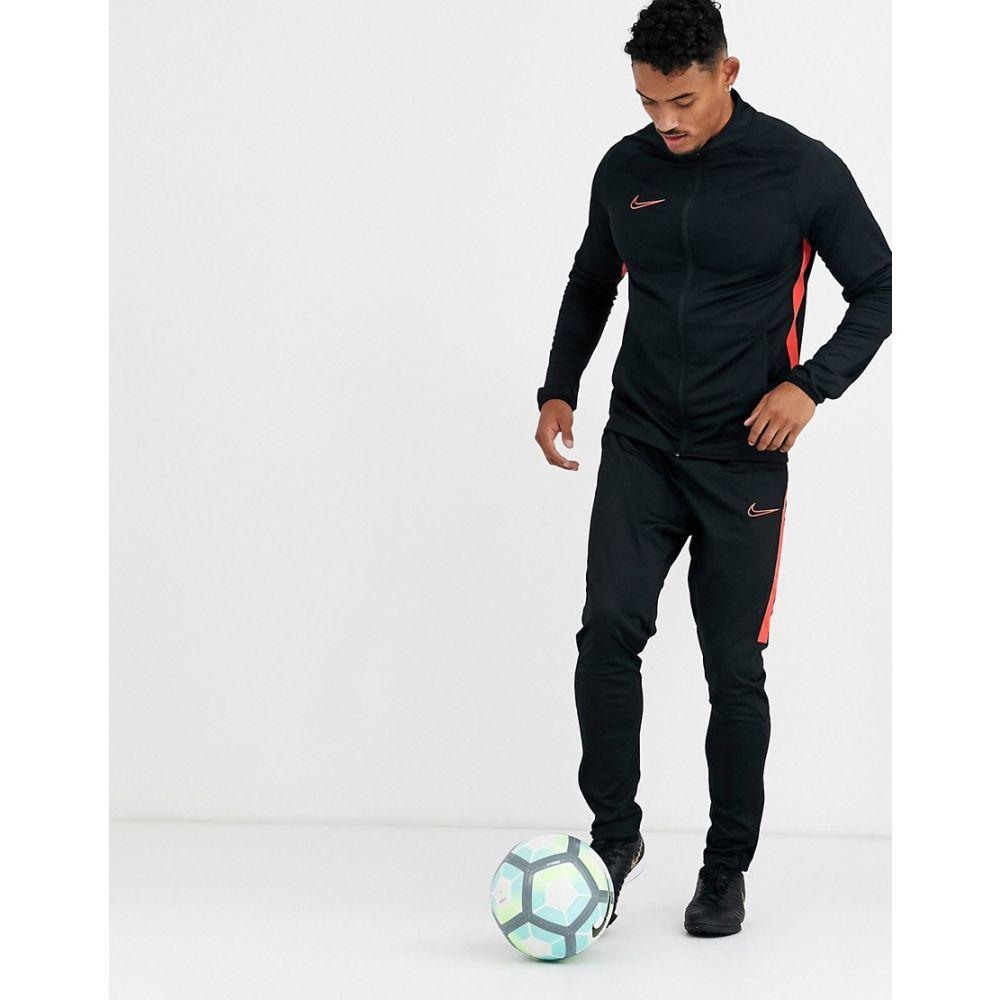 ナイキ Nike Football メンズ ジャージ アウター【academy tracksuit in black with red side stripe】Black