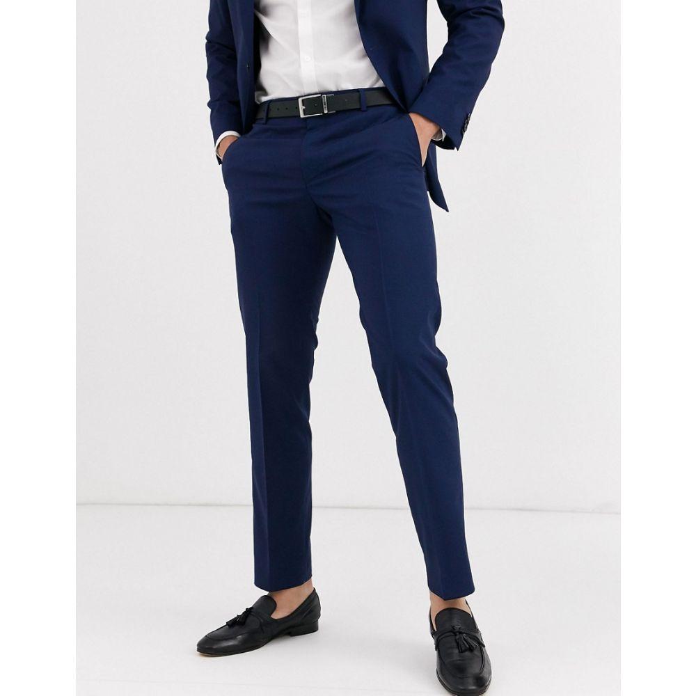 トミー ヒルフィガー Tommy Hilfiger メンズ スラックス ボトムス・パンツ【will extra slim suit trouser】Navy