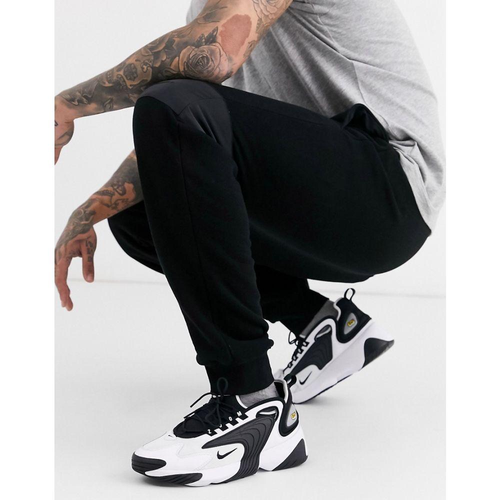 トップマン Topman メンズ ジョガーパンツ ボトムス・パンツ【Signature joggers with embroidery in black】Black