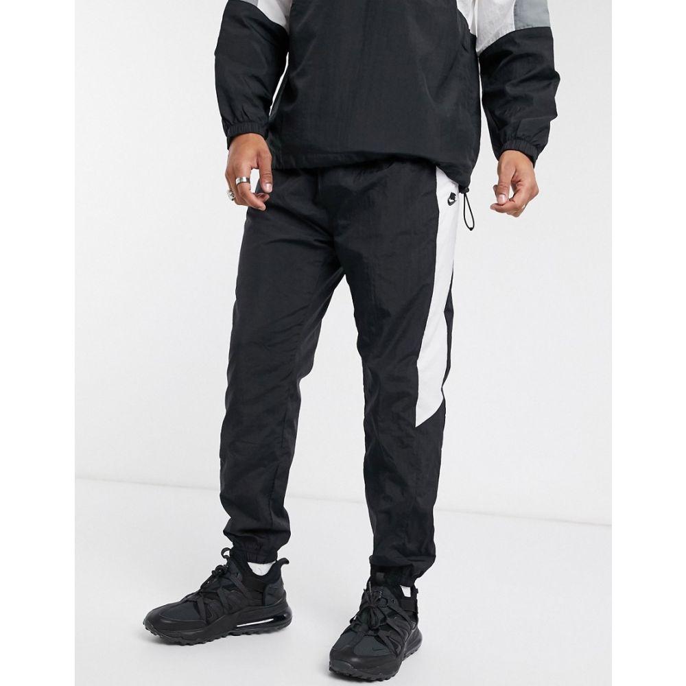 ナイキ Nike メンズ ジョガーパンツ ボトムス・パンツ【colourblock woven cuffed joggers in black】Black