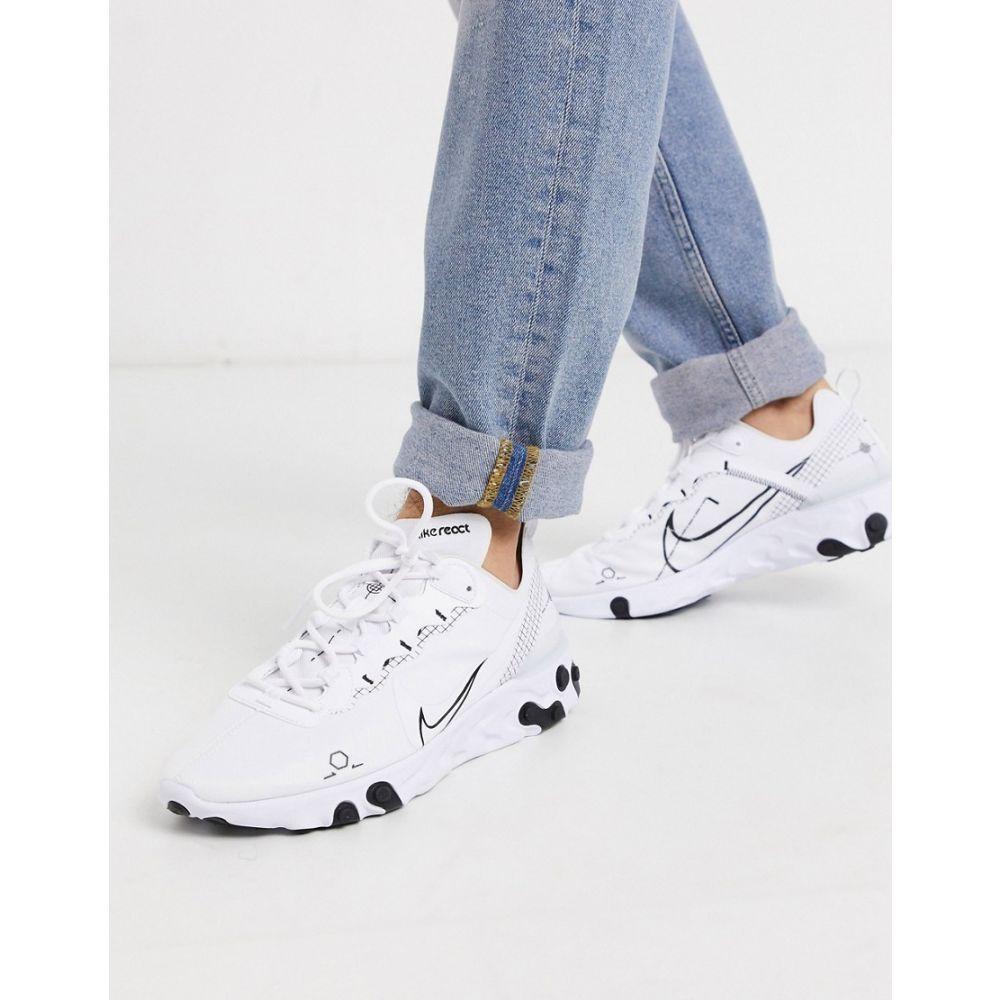 ナイキ Nike メンズ スニーカー シューズ・靴【React Element 55 trainers in white】White