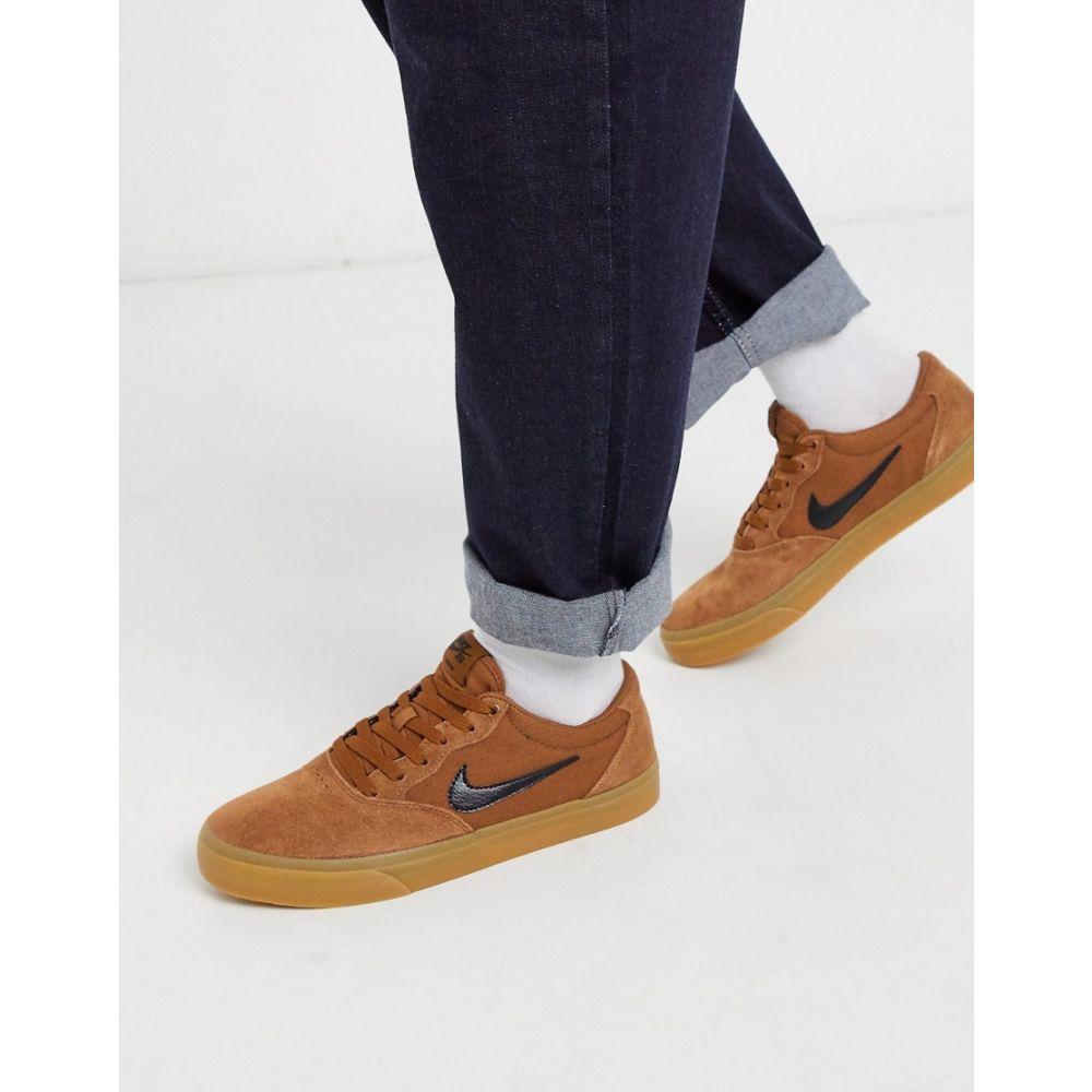 ナイキ Nike SB メンズ スニーカー シューズ・靴【Chron suede trainers in brown】Brown