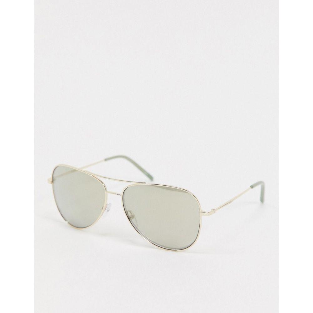 ダナ キャラン ニューヨーク DKNY メンズ メガネ・サングラス アビエイター【City Native aviator sunglasses】Gold