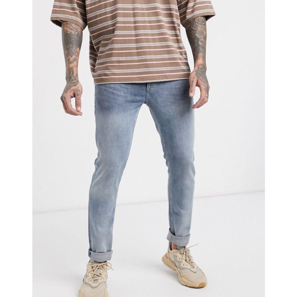 トップマン Topman メンズ ジーンズ・デニム ボトムス・パンツ【skinny jeans in blue】Blue