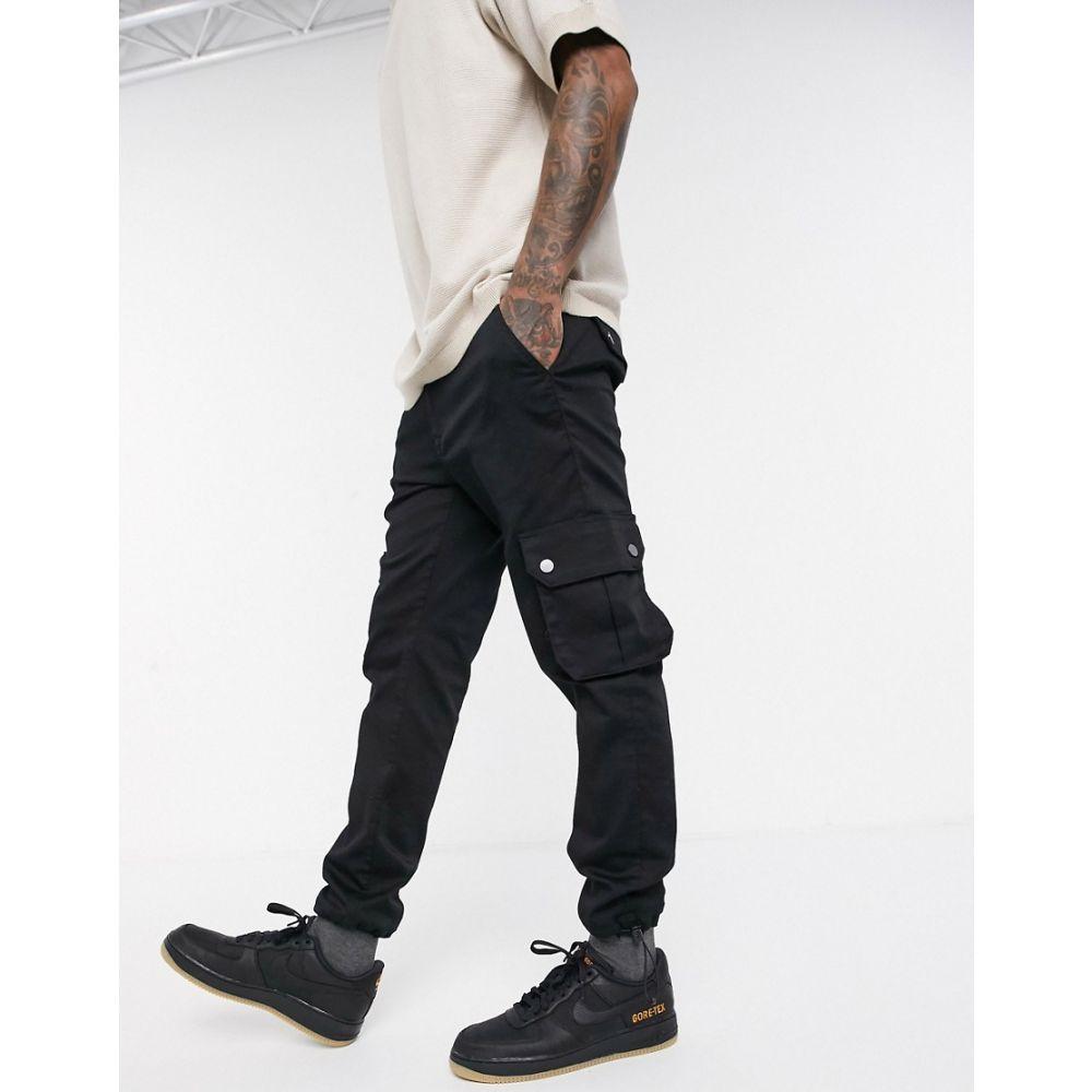 ジャック アンド ジョーンズ Jack & Jones メンズ ジーンズ・デニム ボトムス・パンツ【Intelligence cargo utility jeans in black】Black denim