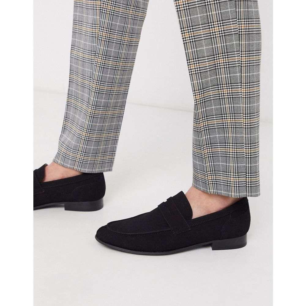 ジャック アンド ジョーンズ Jack & Jones メンズ ローファー シューズ・靴【faux suede loafer in black】Anthracite