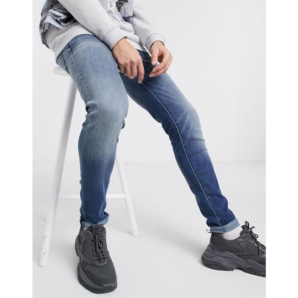 トゥルー レリジョン True Religion メンズ ジーンズ・デニム ボトムス・パンツ【Tony super skinny jean in mid wash】Blue