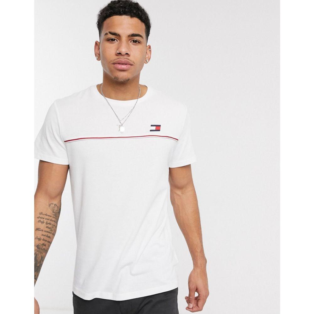 トミーヒルフィガー Tommy Sport メンズ Tシャツ トップス【s flag logo icon piping t-shirt in white】White