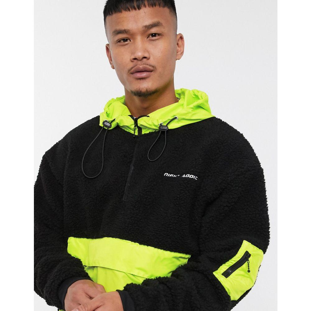 ナイト アディクト Night Addict メンズ ジャケット アウター【neon pocket pullover jacket】Black