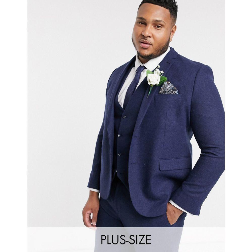 ハリー ブラウン Harry Brown メンズ スーツ・ジャケット アウター【Plus wedding tweed heritage suit jacket】Navy