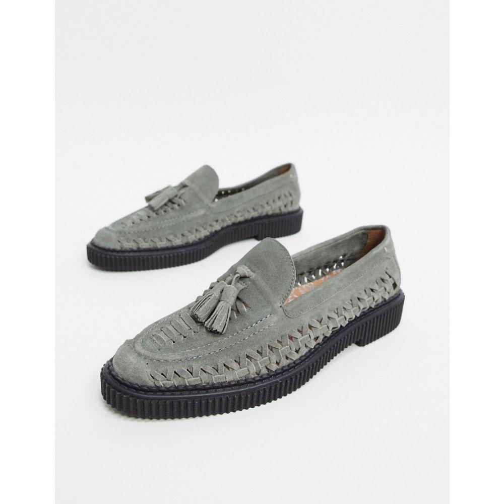 ハウスオブハウンズ House of Hounds メンズ ローファー シューズ・靴【orion woven loafers in grey suede】Grey