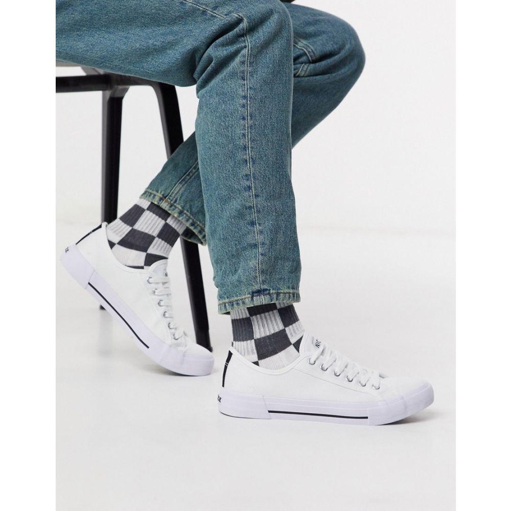 ニッチェ ロンドン Nicce メンズ スニーカー シューズ・靴【kansas trainer in white】White
