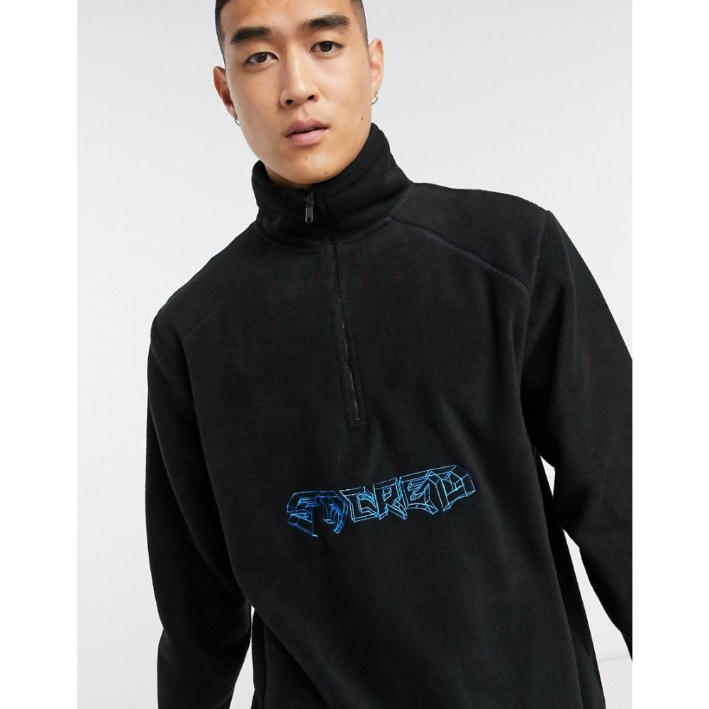 ナッシング イズ セイクリッド Nothing Is Sacred メンズ フリース トップス【Nothing is Sacred 1/4 zip fleece in black】Black