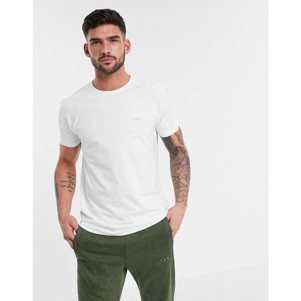 ヒューゴ ボス BOSS メンズ Tシャツ トップス【Athleisure logo t-shirt】White
