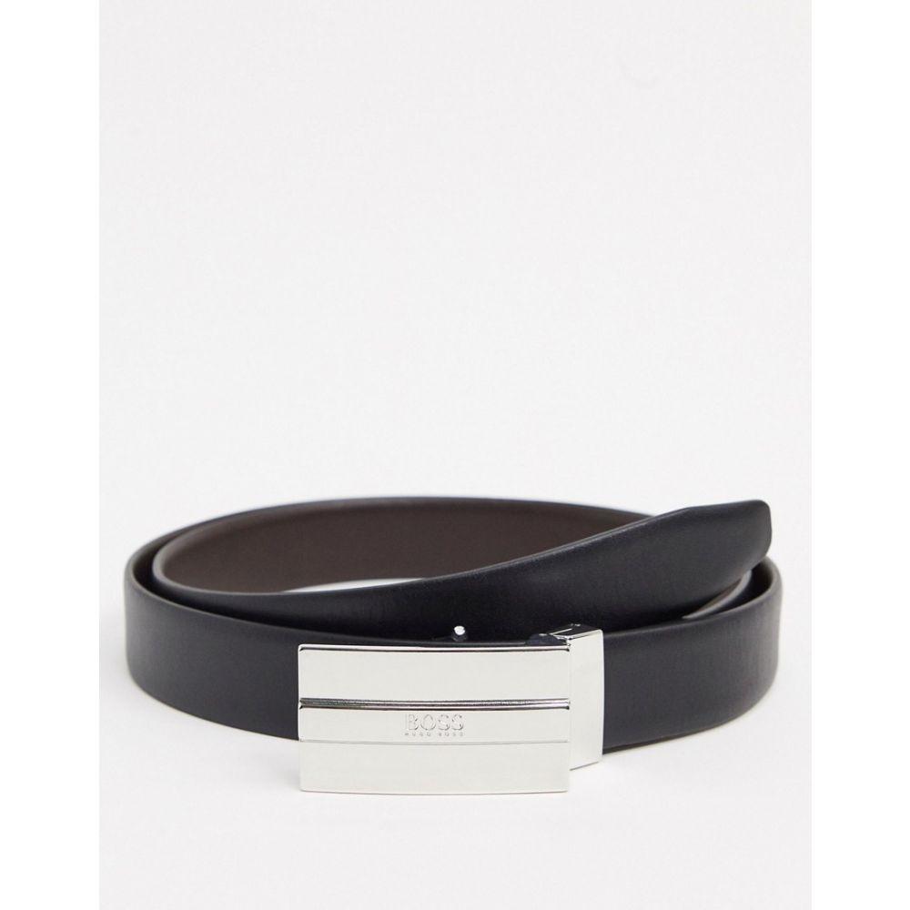 ヒューゴ ボス BOSS メンズ ベルト 【Eflyoso-S leather belt】Black