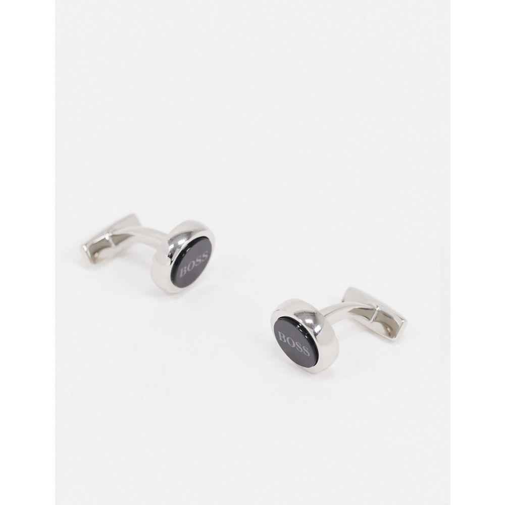 ヒューゴ ボス BOSS メンズ カフス・カフリンクス 【Business Smith logo cufflinks】Black