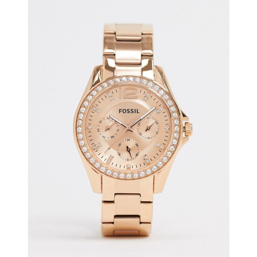 フォッシル Fossil メンズ 腕時計 ブレスレットウォッチ【Riley rose gold bracelet watch ES2811】Rose gold