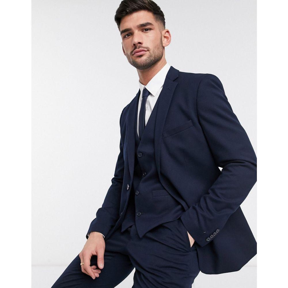 フレンチコネクション French Connection メンズ スーツ・ジャケット アウター【wedding slim fit flannel suit jacket】Blue