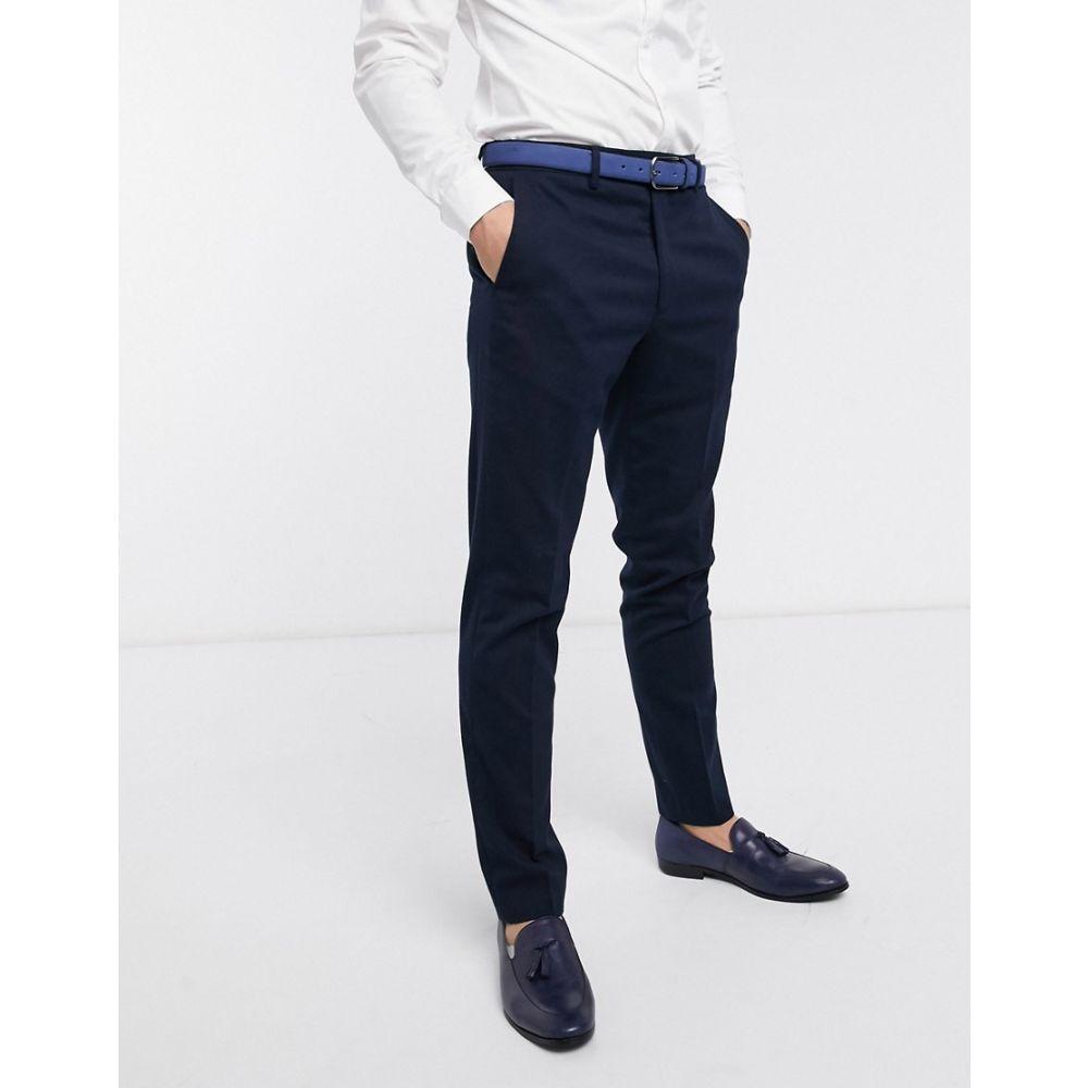 フレンチコネクション French Connection メンズ スラックス ボトムス・パンツ【wedding slim fit flannel suit trousers】Blue