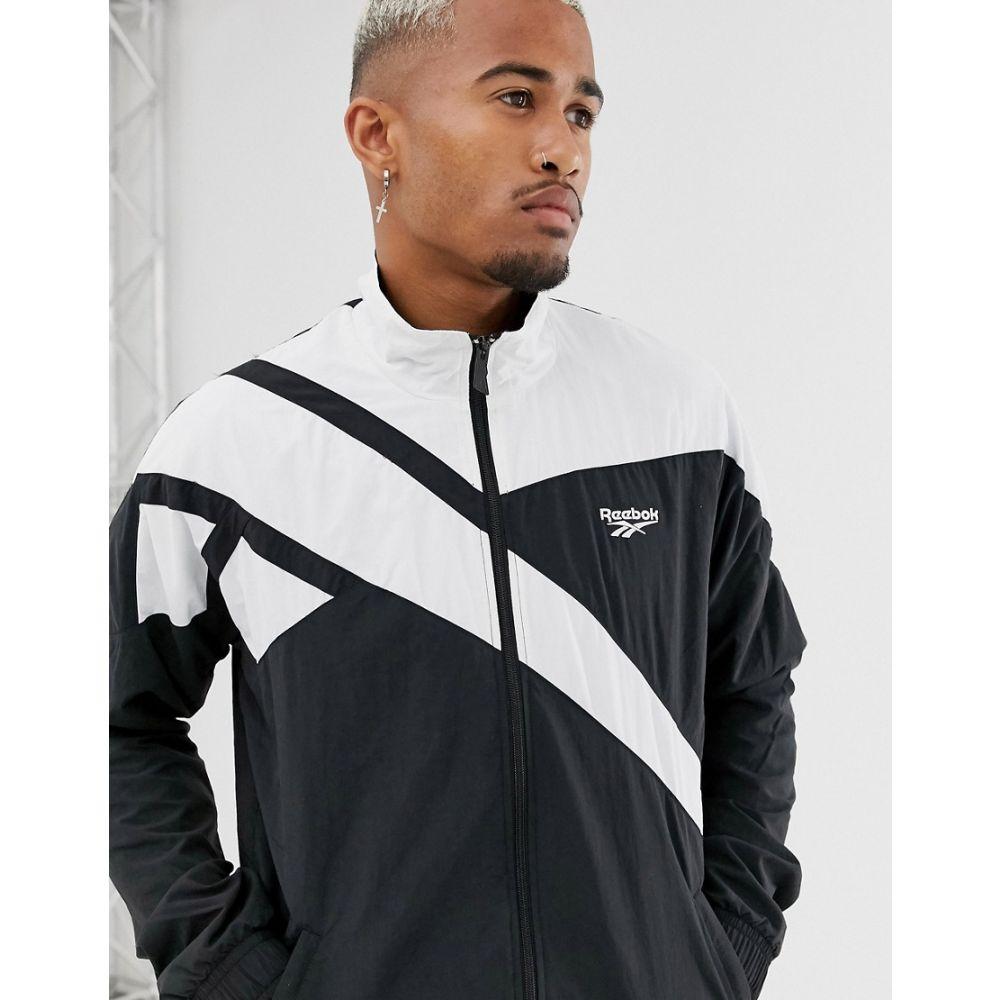 リーボック Reebok メンズ ジャージ アウター【track jacket with vintage vector in black】Black