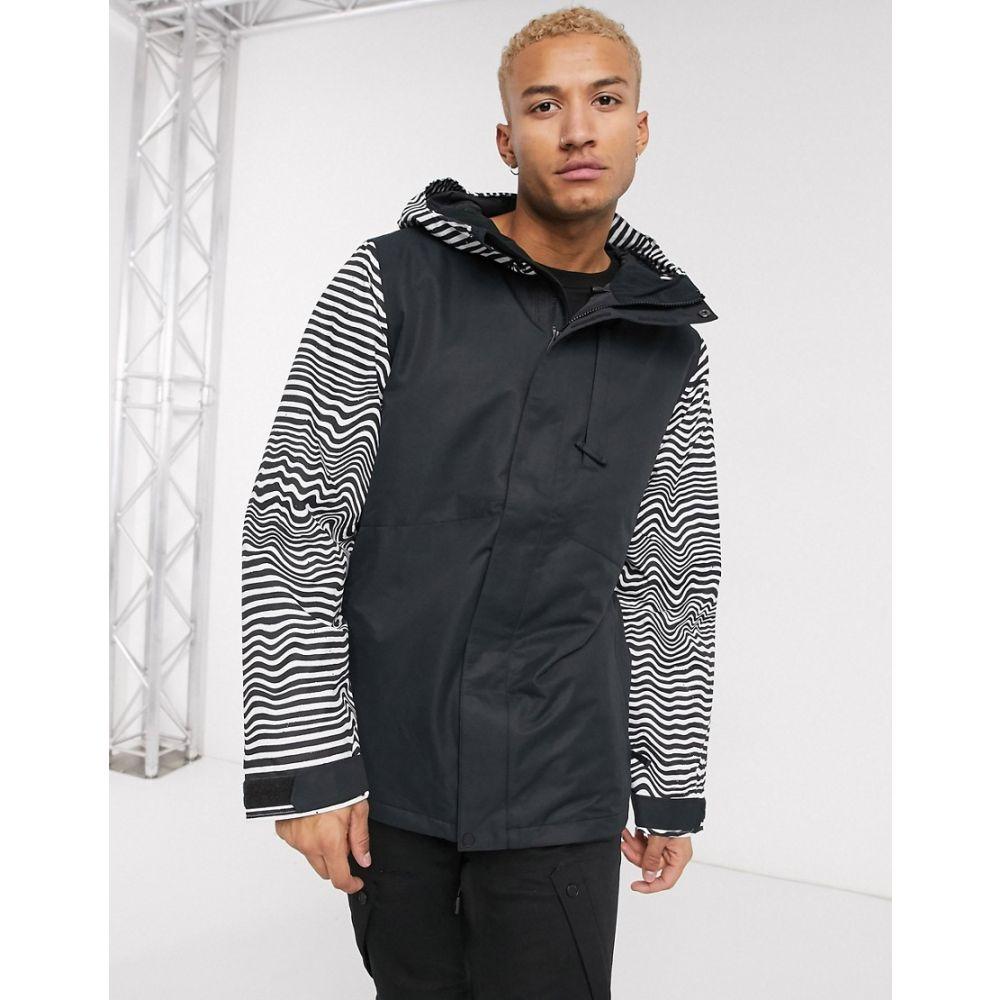 ボルコム Volcom メンズ ジャケット アウター【17Forty Ins snow jacket with stripe detail in black】Black