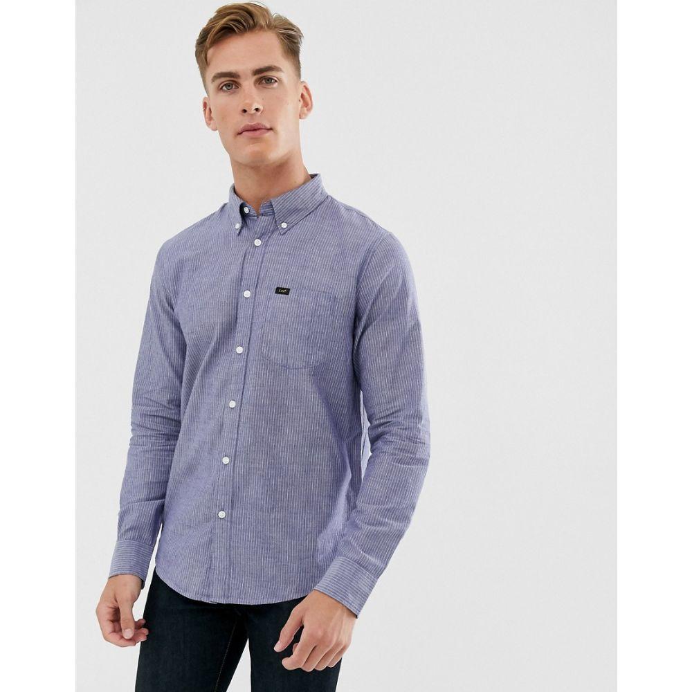 リー Lee メンズ シャツ トップス【button down shirt in blue】Beyond blue