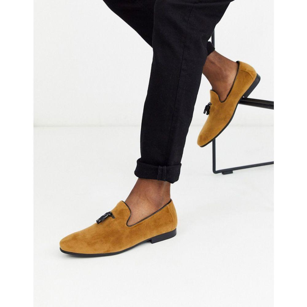 モス ブラザーズ MOSS BROS メンズ ローファー シューズ・靴【Moss London suede loafer with tassels in tan】Camel